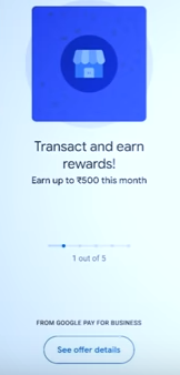 Google Pay Merchant Account reward