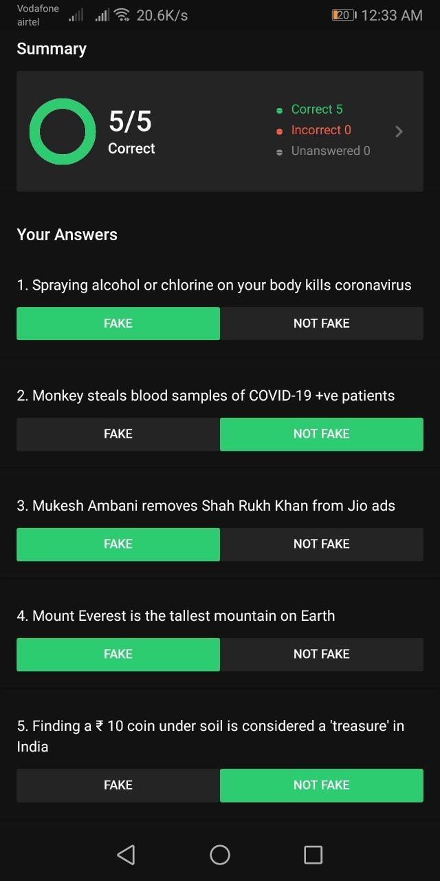 Flipkart Fake or Not Answers List