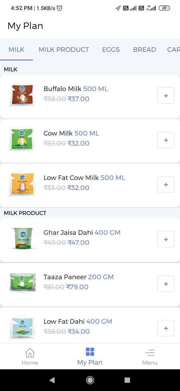 Country Delight Products Milk